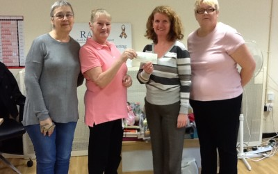 Harold Hill Knitting ladies raise an amazing £2300 for RAGS