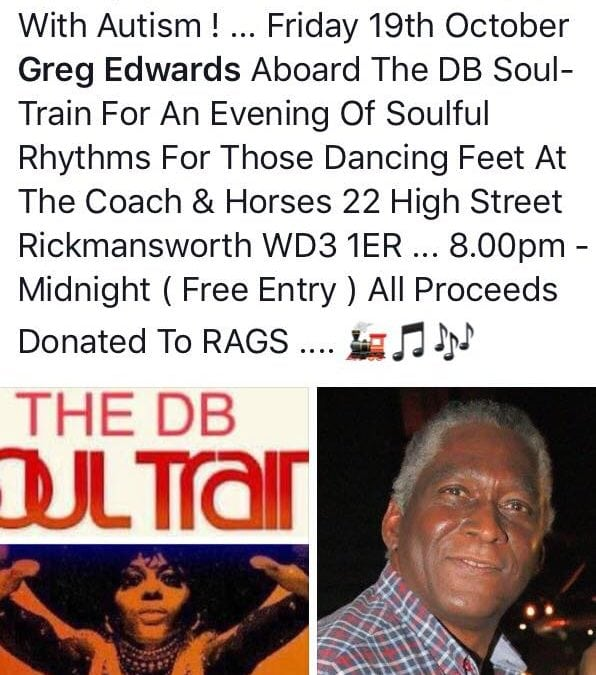 Greg Edwards Aboard the DB Soul Train Charity Event for RAGS For Children with Autism